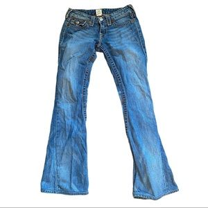 True Religion Joey Big T Low Rise Flare Jeans 27